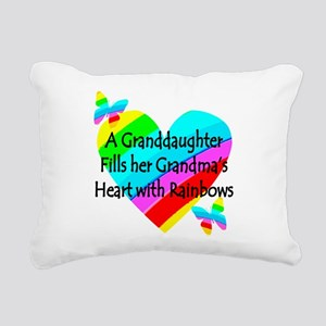 #1 GRANDDAUGHTER Rectangular Canvas Pillow