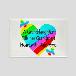 #1 GRANDDAUGHTER Rectangle Magnet