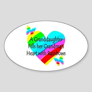 #1 GRANDDAUGHTER Sticker (Oval)