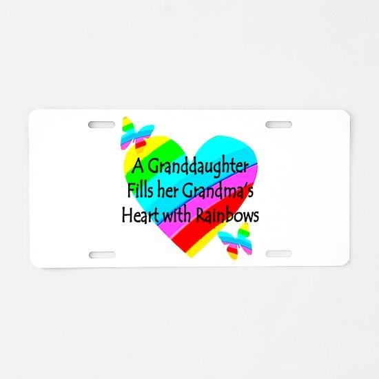 #1 GRANDDAUGHTER Aluminum License Plate
