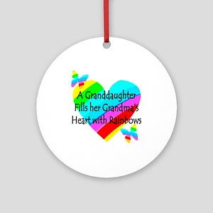 #1 GRANDDAUGHTER Ornament (Round)