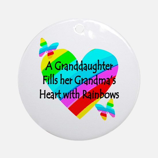 #1 GRANDDAUGHTER Ornament (Round)