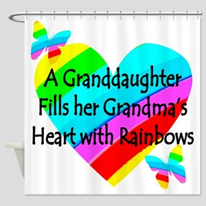 #1 GRANDDAUGHTER Shower Curtain