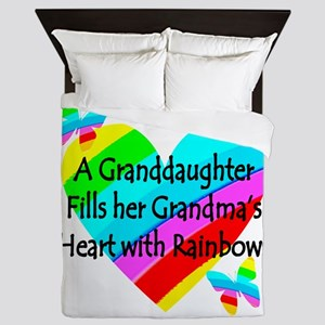 #1 GRANDDAUGHTER Queen Duvet