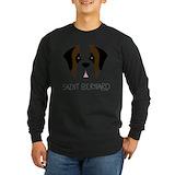 Saint bernard Long Sleeve Dark T-Shirts