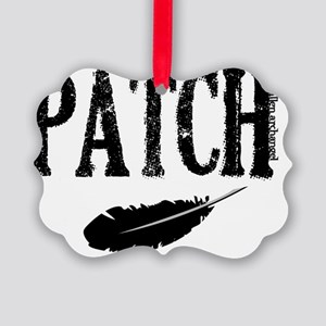 patch with feather trans higher Picture Ornament