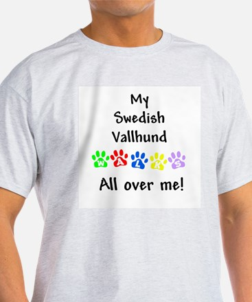 Vallhund Walks Ash Grey T-Shirt