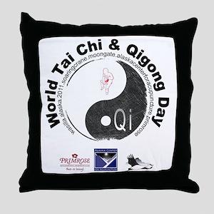 Back T-shirt 2011_2 Throw Pillow