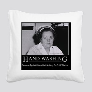 hand-washing-humor-infection- Square Canvas Pillow