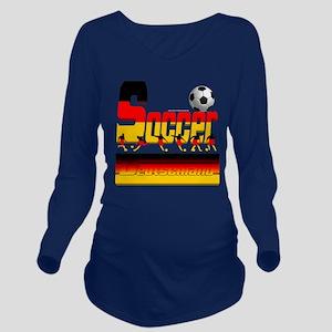 Bold Soccer German Long Sleeve Maternity T-Shirt