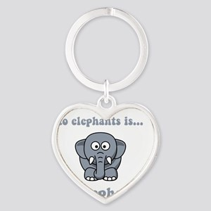 Irrelephant Grey Heart Keychain