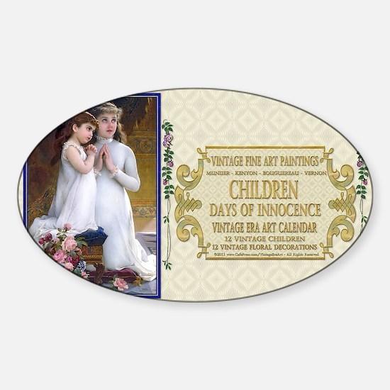1 A FA H CHILD MUNIER 2GirlsPrayer Sticker (Oval)
