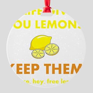 Keep Lemons Yellow Round Ornament