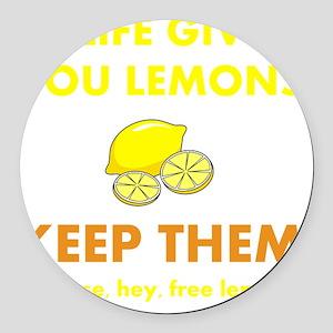 Keep Lemons Yellow Round Car Magnet