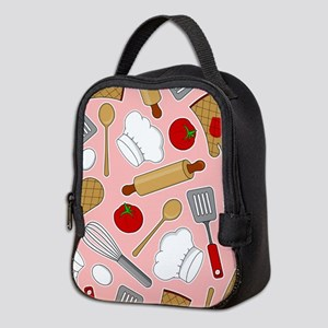 Cute Chef / Cook Love Pattern Pink Neoprene Lunch