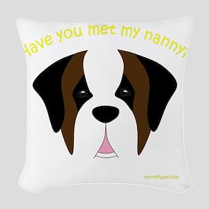 MeetMyNannySaint Woven Throw Pillow