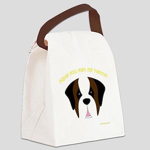 MeetMyNannySaint Canvas Lunch Bag