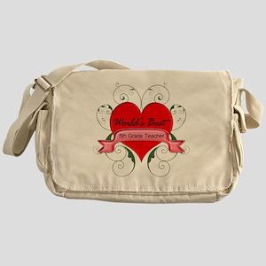 Worlds Best 5th Teacher with heart Messenger Bag