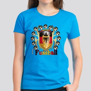 German Soccer Tribal Shield Women's Dark T-Shirt