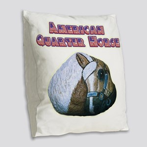 AQHA Burlap Throw Pillow