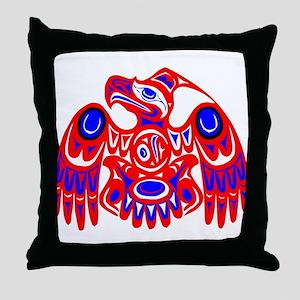 Haida Thunderbird Throw Pillow