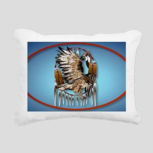 WallPeel Flying Hawk Ova Rectangular Canvas Pillow