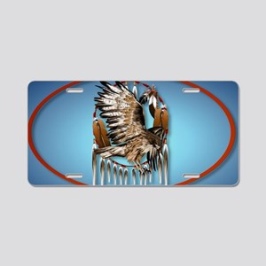 WallPeel Flying Hawk Oval Aluminum License Plate