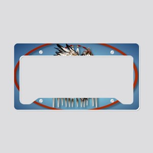 WallPeel Flying Hawk Oval License Plate Holder