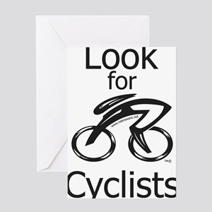 Look_for_Cyclists_2 Greeting Card