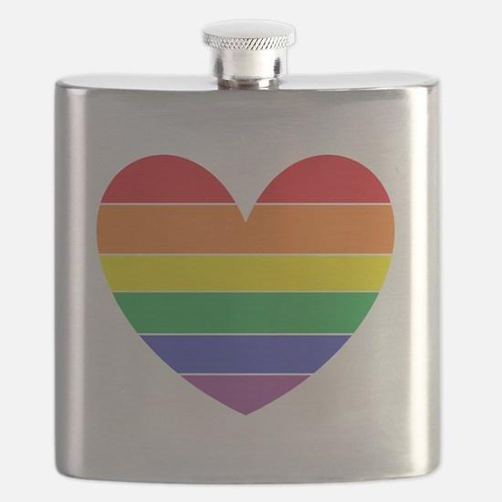 Rainbow Heart Flask