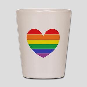 Rainbow Heart Shot Glass