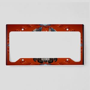 Wall Peel Bald Eagle Face Ova License Plate Holder
