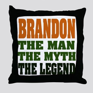 BRANDON - the legend Throw Pillow