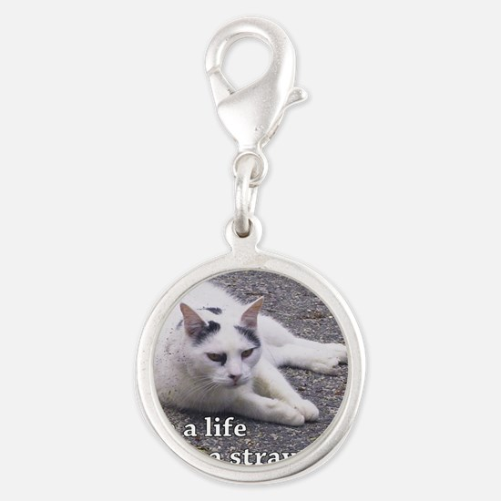 Adopt a Stray Silver Round Charm
