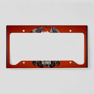 Wall Peel Bald Eagle Face License Plate Holder