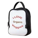 I Love Organic Neoprene Lunch Bag