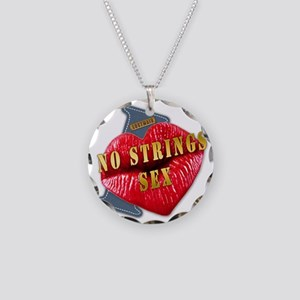 NOSTRINGSSEX---I-LOVE Necklace Circle Charm