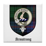 Armstrong Clan Crest Tartan Tile Coaster