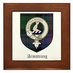 Armstrong Clan Crest Tartan Framed Tile