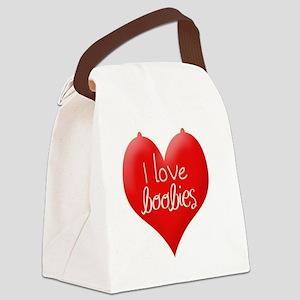 I love boobies Canvas Lunch Bag