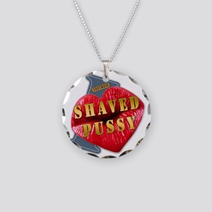 SHAVEDPUSSY---I-LOVE Necklace Circle Charm