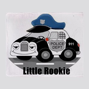 Little Rookie Police Car Throw Blanket