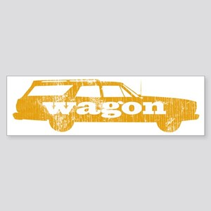 wagaon_yellow Sticker (Bumper)