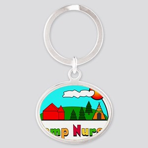 camp nurse Gails Oval Keychain
