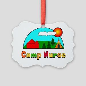 camp nurse Gails Picture Ornament