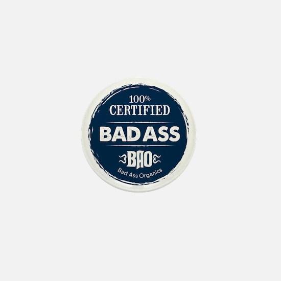 Bad_Ass_Certified_Blue_Sticker Mini Button