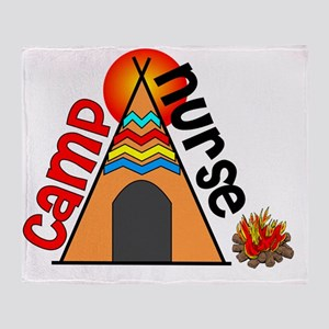 Camp Nurse Tee Pee Throw Blanket