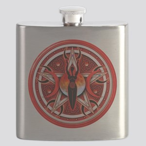 Pentacle of the Red Goddess Flask