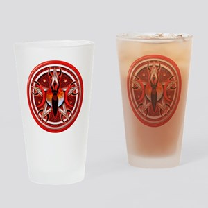 Pentacle of the Red Goddess Drinking Glass