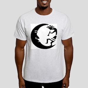 Kokopelli & Moon Ash Grey T-Shirt